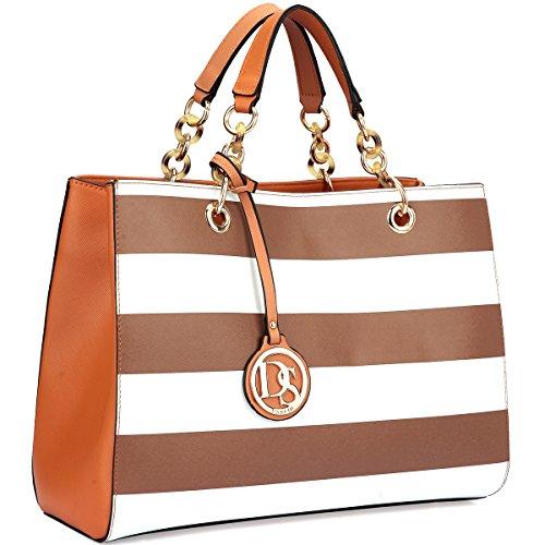 dasein-saffiano-faux-leather-chain-strap-satchel-coffee-white