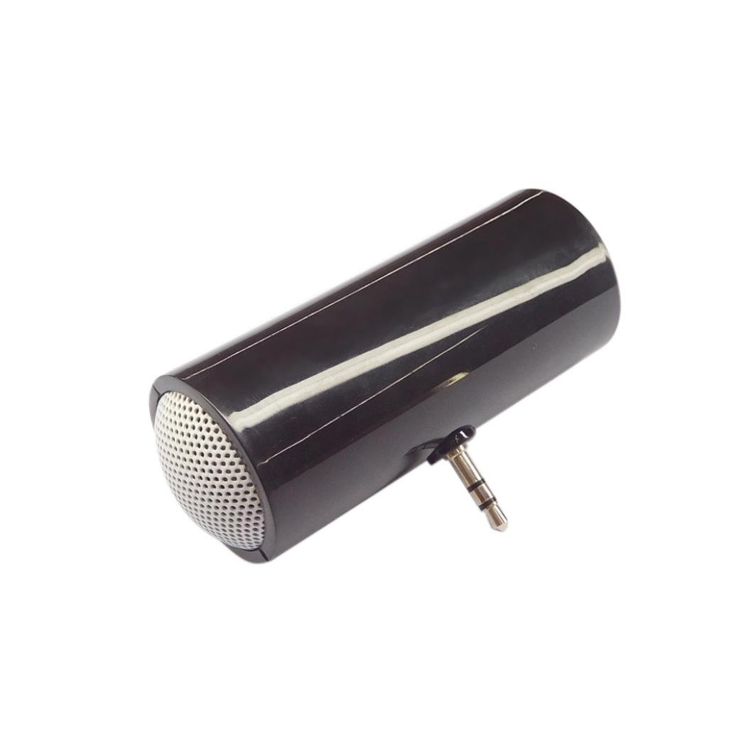 Creazy 3.5mm Music Player Stereo Speaker For iPod iPhone6 Plus Note4 Cellphone (black)