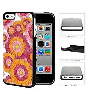 Pink And Orange Floral Painting iPhone 5c Hard Snap on Plastic Cell Phone Case Cover