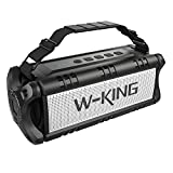 W-KING Wireless Bluetooth Speakers & 8000mAh Battery Power Bank - D8 Outdoor Portable Waterproof Speaker with Powerful Bass for iPhone, Tablet & Laptop - Loud Clear Stereo Sound - 100ft Range - Black