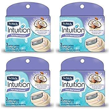 new-schick-100-genuine-intuition-pure-nourishment-razor-refill-coconut-milk-and-almond-oil-cartridge