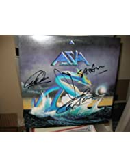 ASIA signed classic first album cover by Howe, Palmer, Wetton (D), Downes/ UACC RD # 212