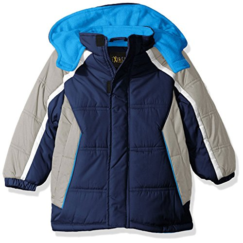iXtreme Boys' Big' Cut and Sew Colorblock Puffer, Navy, 14/16]()