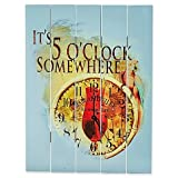 Wall Art Tropical Look And Rustic Design ''It's 5 O'clock Somewhere'' in Blue