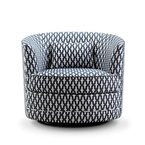 - Rosevera SH-H6 Hearst Swivel Accent Chair, Navy