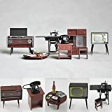 1:24 Vintage Japanese Furniture Dollhouse Miniature Accessories Featuring Record Player, Cupboard, Table, Television and More