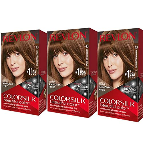 Revlon Colorsilk Hair Color, Medium Golden Brown [43] 1 ea