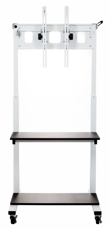 Luxor Crank Adjustable Flat Panel TV Cart with 2 Shelves