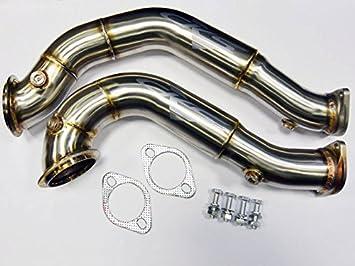 BMW 335i deporte bajada catless N54 Motor Twin Turbo E90 E91 E92 E93 3 Serie: Amazon.es: Coche y moto