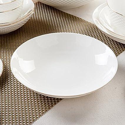 Tangshan high-grade creative Chinese white bone china tableware bowl home dishes simple European ceramics & Tangshan high-grade creative Chinese white bone china tableware bowl ...