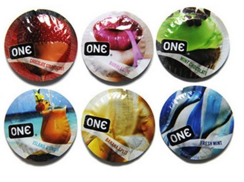 ONE Color Flavor Waves Assorted Condoms - 12 Latex Condoms
