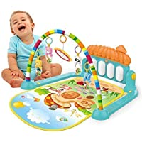 Sky Tech® Latest Baby's Piano Gym Kick and Play Multi-Function ABS High Grade Plastic Piano Baby Gym and Fitness Rack with Hanging Rattles, Music & Light.(up to 2 Year)