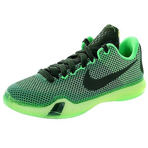 Nike Kids Kobe X (GS) Poison Green/Sequoia/Sq/Vlt Basketball Shoe 6 Kids US