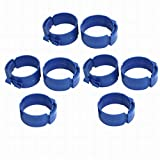 Fuxell 90mm Dia 38mm Width Central Air Conditioner Pipe Clip Clamp Blue 8pcs