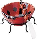 Boston Warehouse Ladybug Lane Dip Bowl and Spreader Set