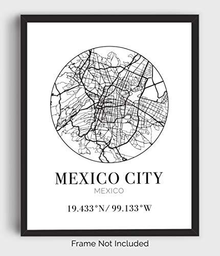 Saxophone Centro Urban Fine Art CDMX Wall Print Black and White Street Photography Musician Office Kitchen Home Decor Mexico City