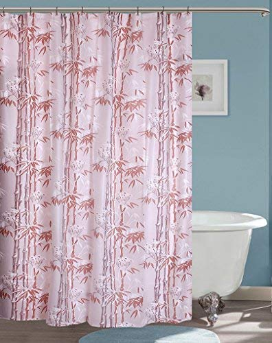Yellow Weaves Pvc Plastic Printed Shower Curtain (Multicolour) - 8 Hooks