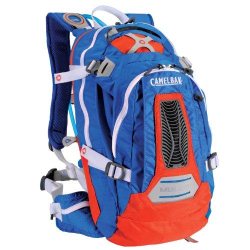Camelbak Men's M.U.L.E. NV Hydration Pack (100-Ounce/671 Cubic-Inch, Skydiver Blue/Orange), Outdoor Stuffs