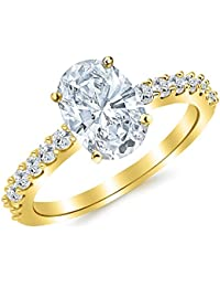 Fine Jewelry Solitaire Engagement Ring I1 H 1.01ct Genuine Diamond 14kt Solid Gold Prong Set Jewelry & Watches