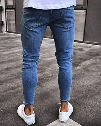 Agujero Hombres Pitillo 1890 Pantalón Elasticos Pantalones Suncaya Vaqueros Personalidad Jeans xgqnXaCSw