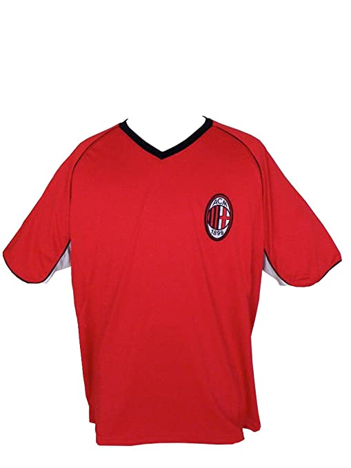 Amazon.com   2013 AC Milan Adult Training Soccer Jersey- Home ... 6f9bd08a0