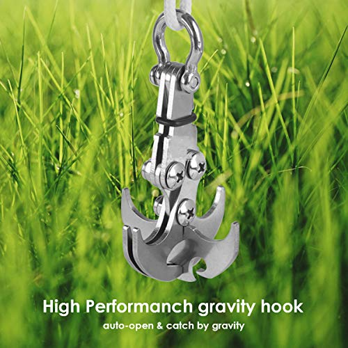 Topsale-ycld Stainless Steel Folding Gravity Grappling Hook Carabiner Outdoor Climbing Survival Tool