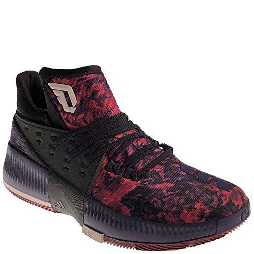 Adidas Dame 3 Scarpa Da Uomo Nucleo Da Basket Nero / Ghiaccio Viola / Bordeaux