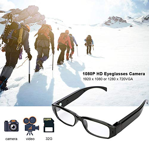 (SPYCENT Glasses Camera Clear Lens Black 1080P Bult in Video Recorder up to 32 GB)