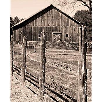 Rustic Barn Personalized Print, Custom Name Print, Custom Rustic Decor, Barn Wall Art