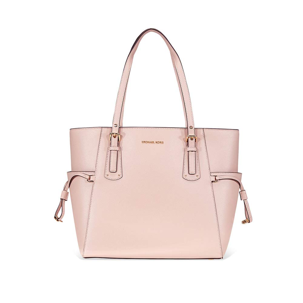 Michael Kors Voyager Textured Crossgrain Leather Tote- Soft Pink by Michael Kors