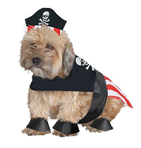 [UHC Pirate Dog Hillbilly Comical Fancy Dress Halloween Pet Costume, M] (Comical Fancy Dress Costumes)