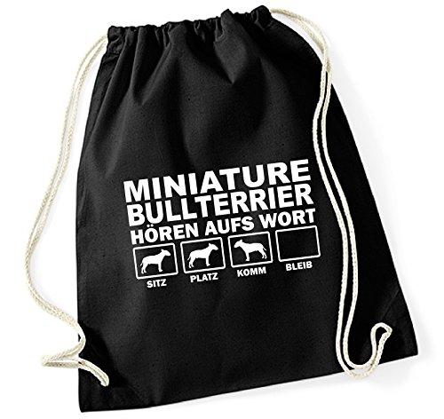 Borsa - Mini Bull Terrier Bull Terrier In Miniatura - Ascolta La Parola Borsa Cotone Siviwonder Nero