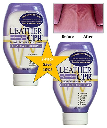 Leather CPR (Spring Cleaning 2PK /18oz Bottles) - Irritant-Free Leather Cleaner & Conditioner for Your Home – Works Wonders on Furniture, Jackets, Shoes, Auto & More (Furniture Leather Cleaning)