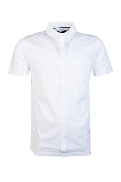 1478889a4 Hugo Boss Mens Casual Shirt PUNO 03 50328741 Size M White: Hugo Boss ...