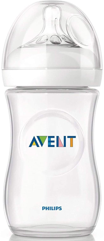 Biberón Natural AVENT 260 ml + Tetina flujo lento 1 m+: ...