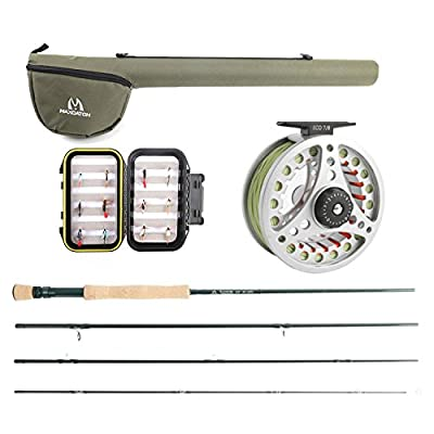 M MAXIMUMCATCH Maxcatch Extreme Fly Fishing Combo Kit 3/5/6/8 Weight Fly Rod and Reel Outfit