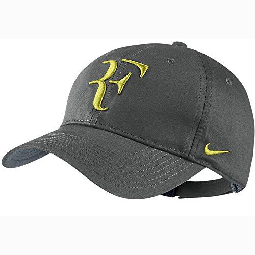 Mens Nike Roger Federer RF Hybrid Adjustable Hat Base Grey/Venom Green (Roger Federer Hybrid)