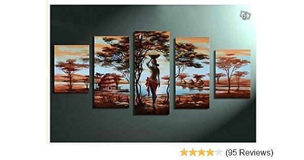Amazoncom Unixtyle Art 100 Hand Painted Wood Framed Wall Art