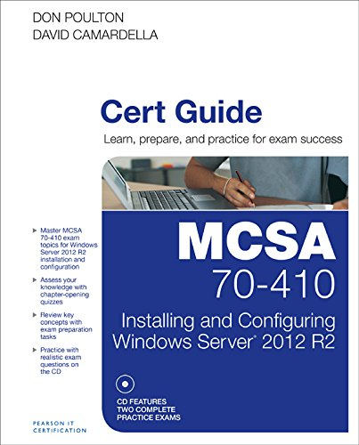 MCSA 70-410 Cert Guide R2: Installing and Configuring Windows Server 2012 Pdf