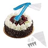 UINSTONE Pastry DIY Cake Decorating Pen Icing Piping Tips Nozzles Bag Sugar Craft Fondant Cake Deco Tool Kit Party Cake Decorating Pen Tool Kit