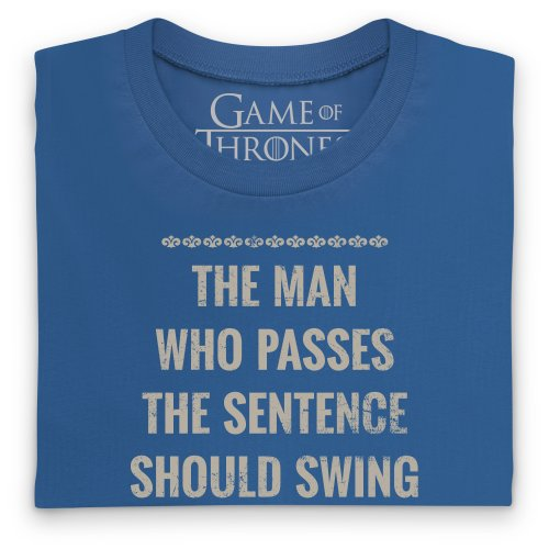 Camiseta Game Sword Thrones Of Real Swing Para Official Mujer Quote The Azul AA0rqO