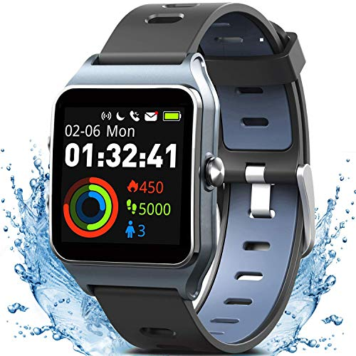 MorePro GPS Smart Watch with 17 Sports Mode Cycling Running Watches IP68 Swimming Waterproof Fitness Tracker, Heart Rate Monitor Smartwatch for Women Men Compatible with iPhone & Android (Best Fitness Tracker For Biking)