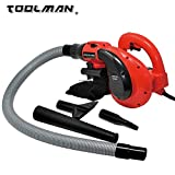 Toolman Corded Electric Leaf Sweeper Vacuum Blower 6 Speed 1200W 10A Perfect with Household Work with DeWalt Ryobi Bosch Skill Accessories