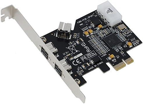 2 External + 1 Internal SEDNA PCI-Express IEEE 1394b FireWire 3 Port Controller Card