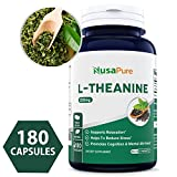 Best L-Theanine 200mg - 180 Capsules (Non-GMO & Gluten Free) - L Theanine to Support Relaxation, Focus, Stress Relief & Sleep - Extra Strength - 100% Money Back Guarantee - Order Risk Free!