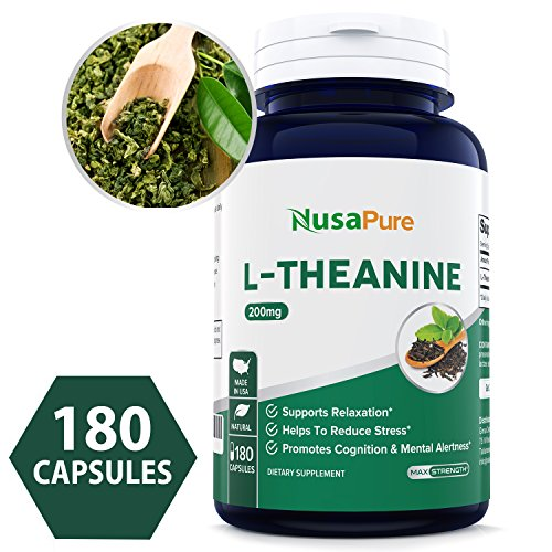 Best L-Theanine 200mg – 180 Capsules (Non-GMO & Gluten Free) – L Theanine to Support Relaxation, Focus, Stress Relief & Sleep – Extra Strength – 100% Money Back Guarantee – Order Risk Free!