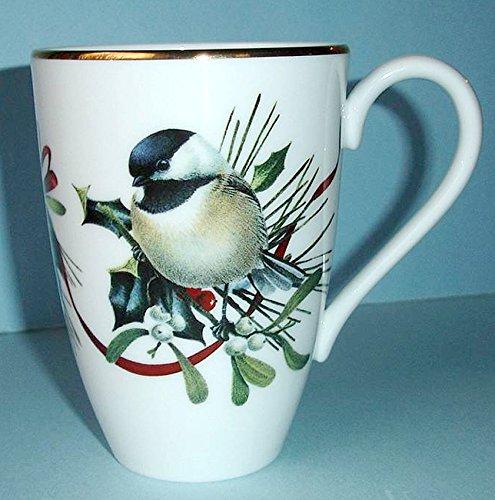 Lenox winter greetings chicadee bird white accent mug new kitchen lenox winter greetings chicadee bird white accent mug new m4hsunfo