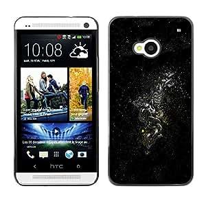 Cubierta de la caja de protección la piel dura para el HTC ONE M7 2013 - Dark Space Galaxy