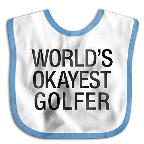 Safe Cotton Kids Lunch Bibs World's Okayest Golfer Baby Saliva Towel Cute Feeding Snap
