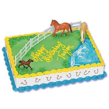 Amazoncom Oasis Supply Cake Decorating Kit Horse and Fence